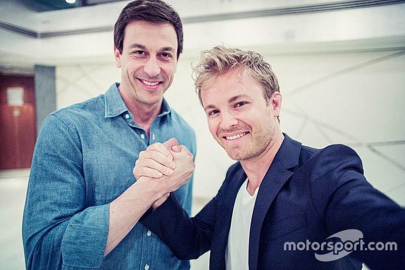 """Wolff: """"Altijd het plan geweest om langer door te gaan met Rosberg"""""""