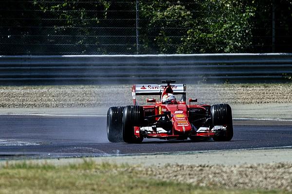 Formule 1 Le test de Vettel avec les nouveaux pneus Pirelli en images
