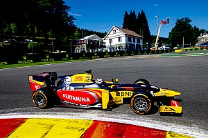 FIA F2 Отчет о квалификации Джовинацци выиграл квалификацию в Бельгии