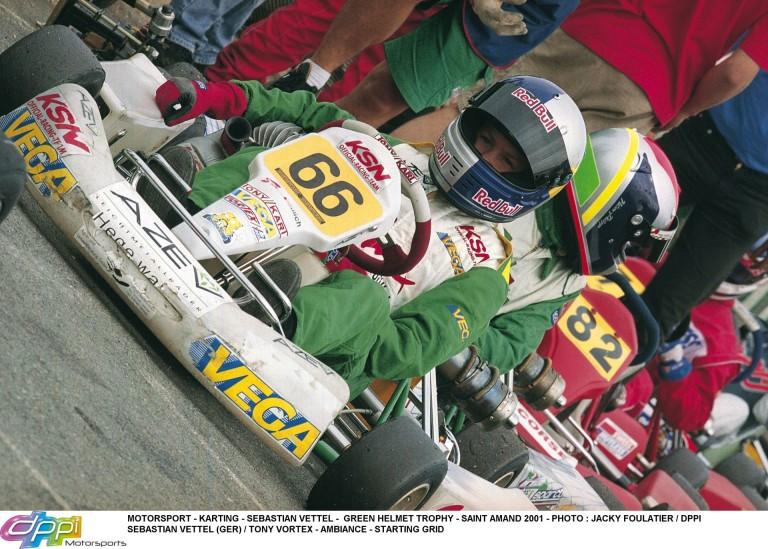 Vettel 2001-ben, amikor megnyeri élete első bajnoki címét!