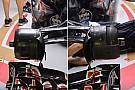 Técnica: configuración asimétrica de frenos del Toro Rosso STR11 en Singapur