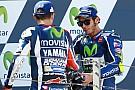Lorenzo trots op P2 in Aragon, Rossi baalt van mislukte inhaalactie