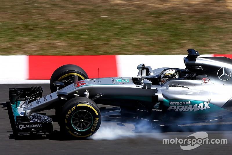 Hamilton topt VT3, Verstappen sterk naar tweede tijd
