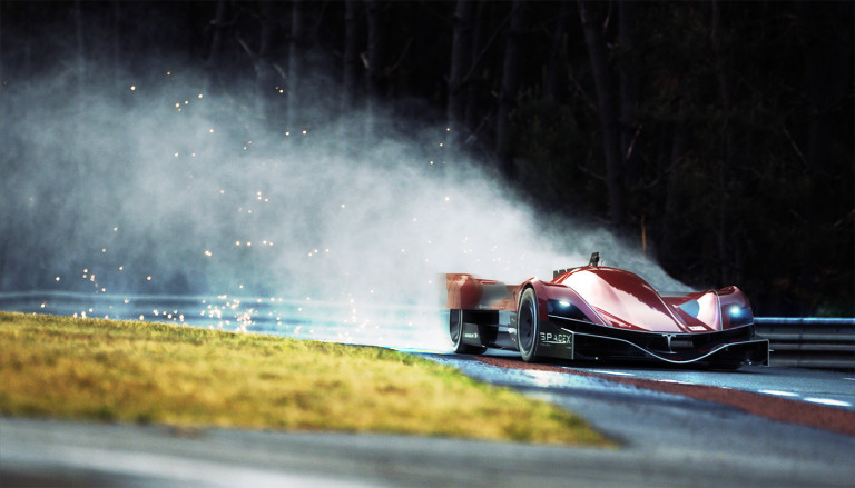 Vakmerő látomás: Tesla Le Mansban, Robin Räikkönen a volán mögött