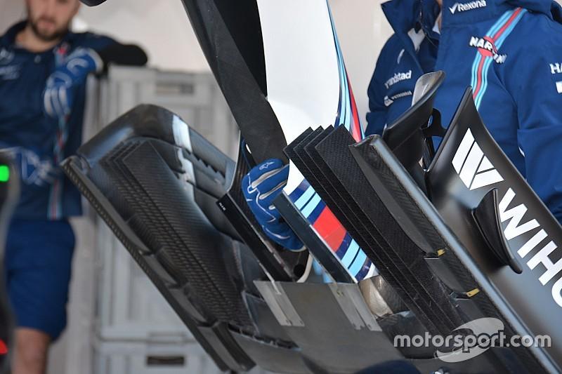 Technique - Le nouvel aileron avant de la Williams FW38