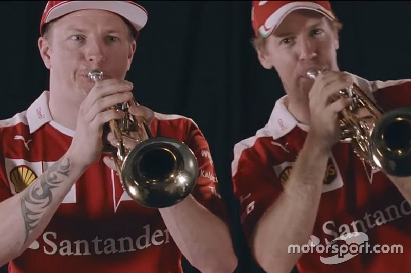 Vidéo - Vettel et Räikkönen jouent de la trompette à Mexico