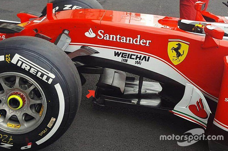 Технический брифинг: крылышко на сплиттере Ferrari SF16-H