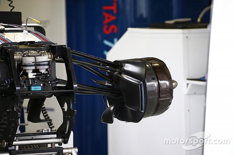 Technique - Les écopes de freins de la Williams FW38