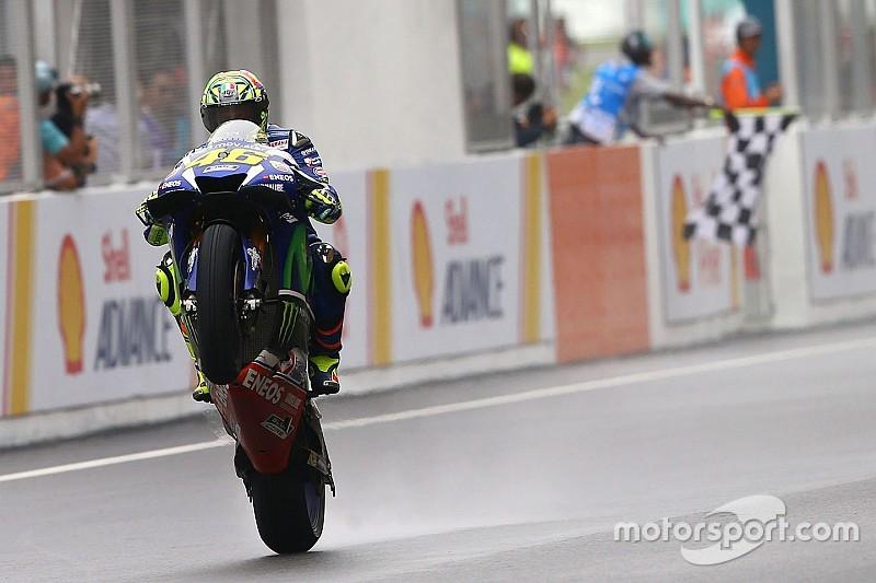 """Rossi blij met tweede plaats: """"Kreeg problemen op opdrogende baan"""""""