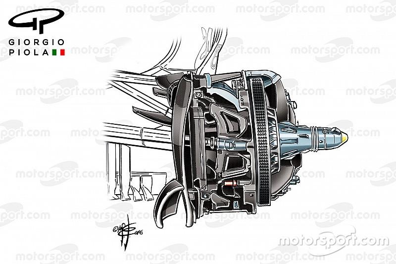 Formel-1-Technik: Die Mercedes-Vorderbremse für 2017