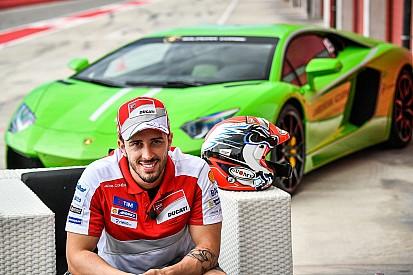 Dovizioso compite en las Lamborghini World Finals de Cheste