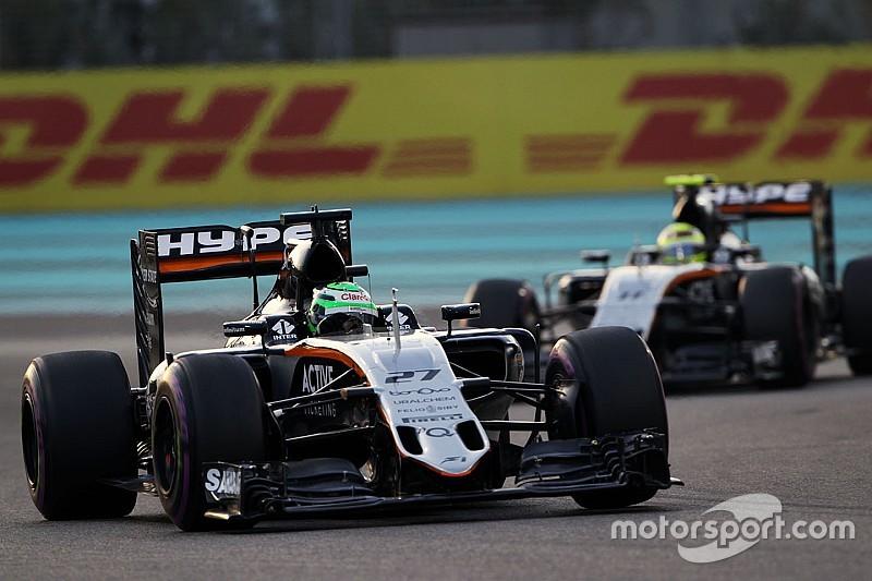 """Para Checo Pérez """"Hulkenberg es uno de los mejores de la F1"""""""