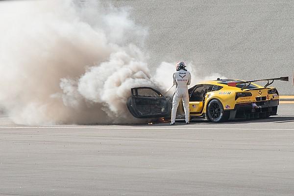 Fassler escapa sin lesiones de un incendio en Daytona