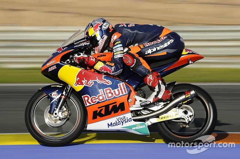 Bo Bendsneyder maakt indruk tijdens Moto3-test Valencia