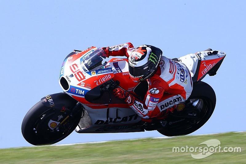 "Lorenzo: ""Ducati voelde verlies van vleugels op Phillip Island"""