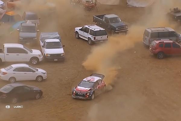 WRC Últimas notícias VÍDEO: Piloto erra, para em estacionamento, mas vence rali