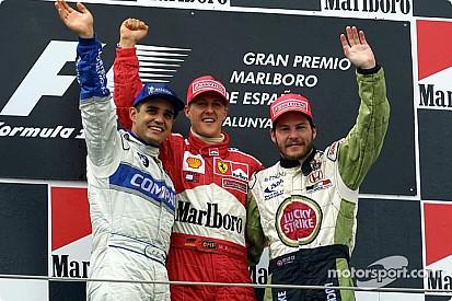 Vor 16 Jahren: Michael Schumacher profitiert von Mika Häkkinens Pech