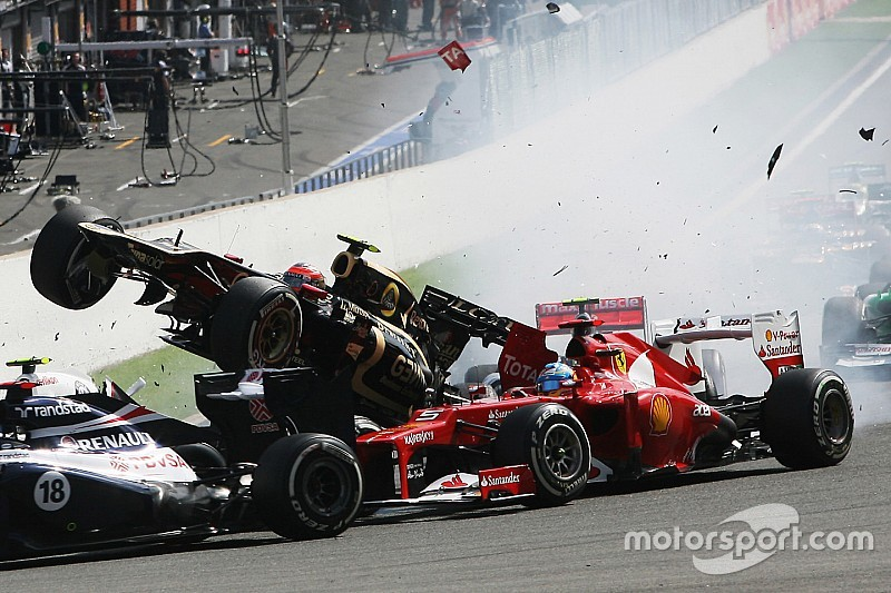 Massa compare à son tour l'accident de Sainz à Spa 2012