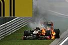 El incendio del Lotus de Nick Heidfeld en Hungría