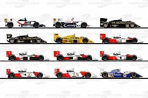 GALERI: Ilustrasi semua mobil F1 Ayrton Senna