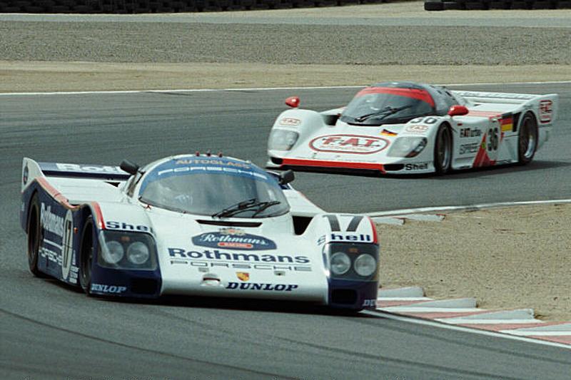 A pair of Porsch 962s