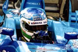 Giancarlo Fisichella in the pits