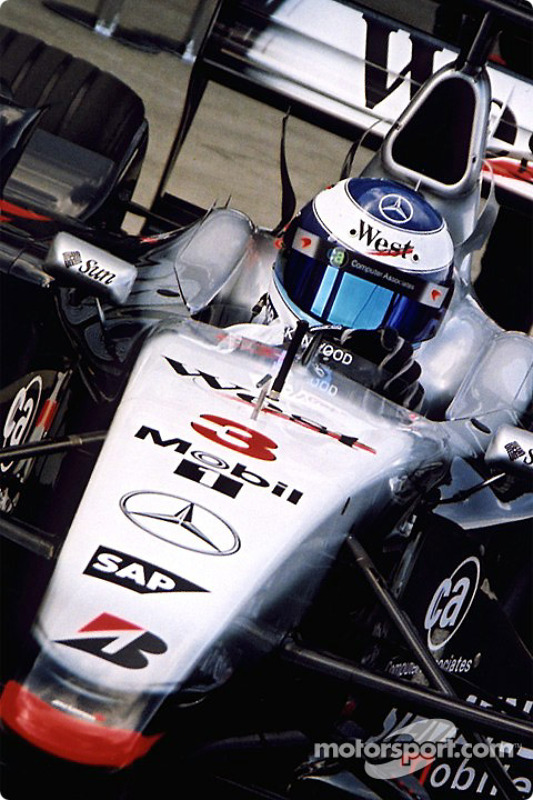 Mika Hakkinen in the pits