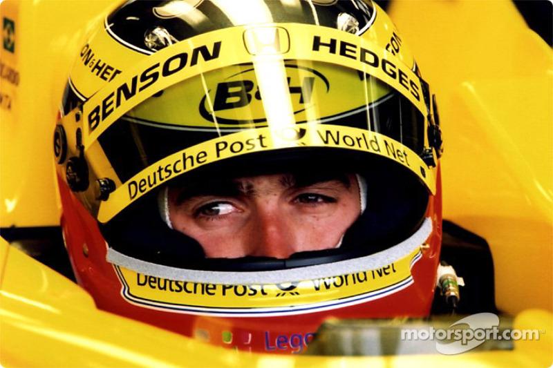 Ricardo Zonta in the garage
