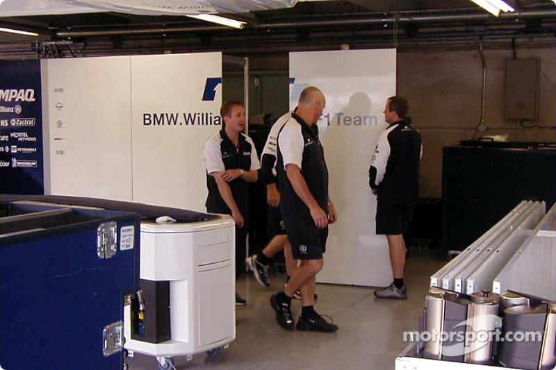 Williams boys setting up