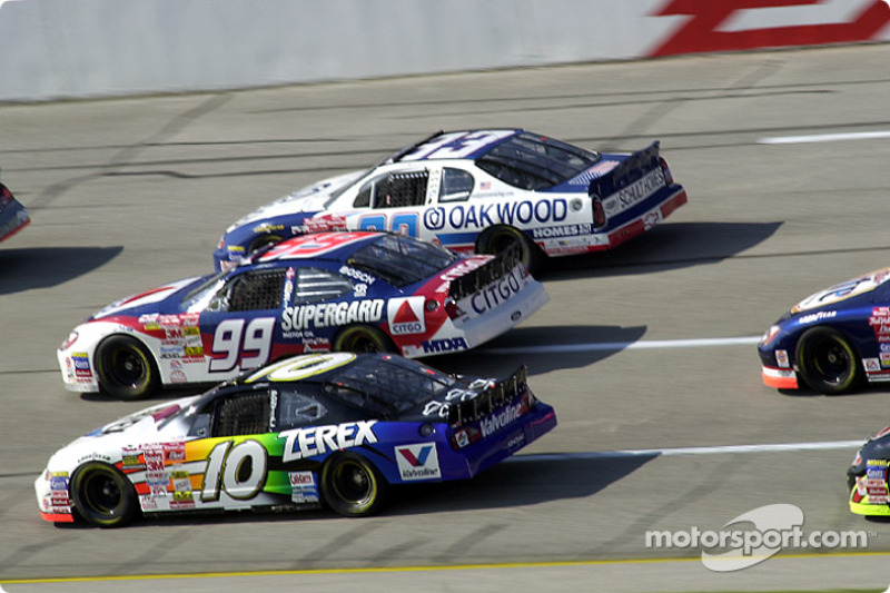 Johnny Benson, Jeff Burton y Joe Nemechek