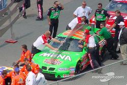 Technical inspection for Joe Gibbs Racing