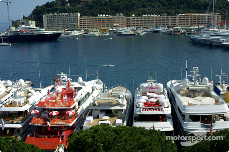 Luxurious boats in the port of Monaco