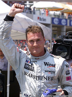 David Coulthard won his 12th career pole position