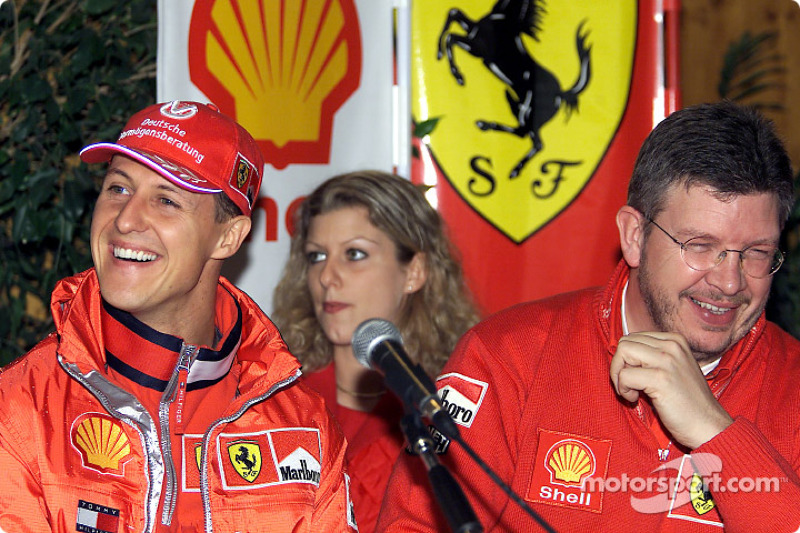 Conferencia de prensa de Shell: Michael Schumacher y Ross Brawn