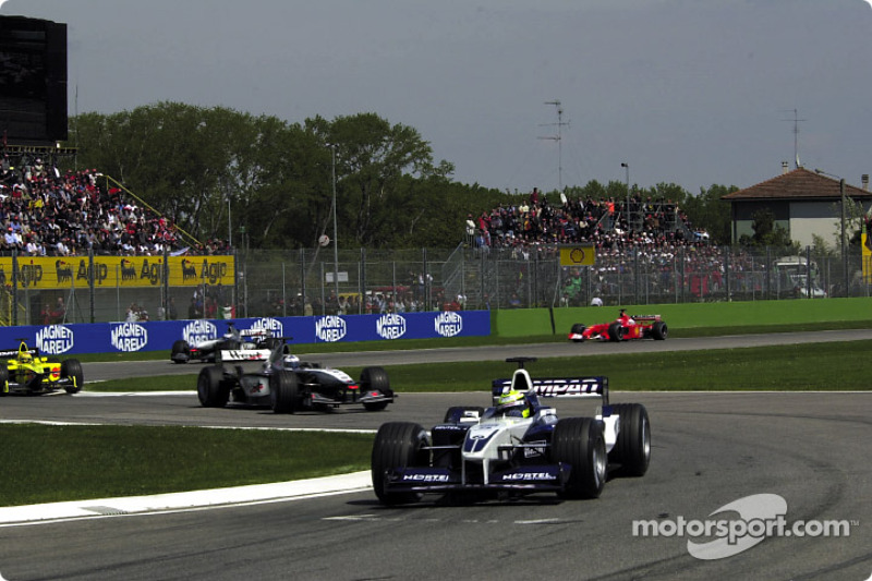 Ральф Шумахер (Williams BMW), Девід Култхард (McLaren Mercedes), Ярно Труллі (Jordan Honda), Міка Хаккінен (McLaren Mercedes) і Рубенс Баррікелло (Ferrari)