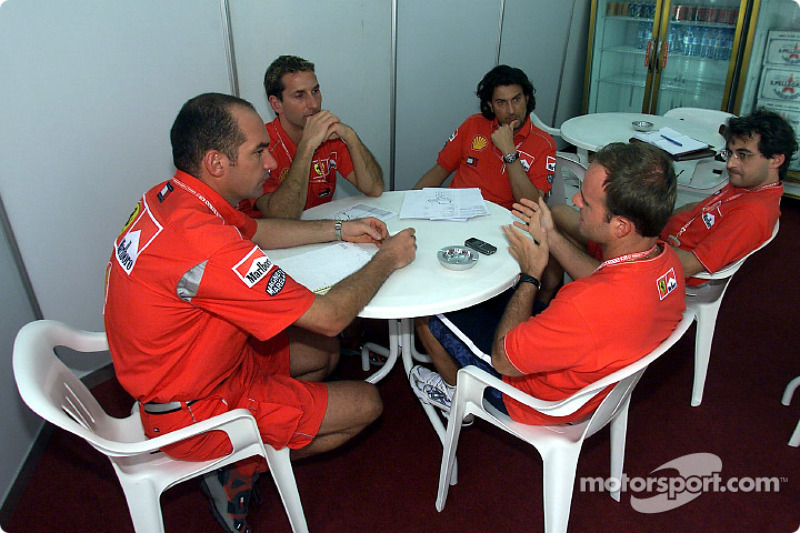 Technical meeting with Rubens Barrichello