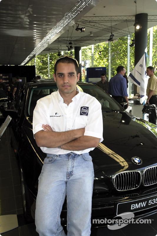 Juan Pablo Montoya and his company car