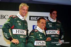 Eddie Irvine, Luciano Burti y Tomas Scheckter