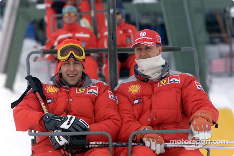 Luca Badoer ve Michael Schumacher
