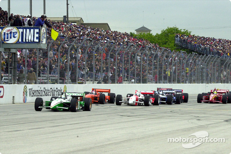 One lap into the race: yellow flag