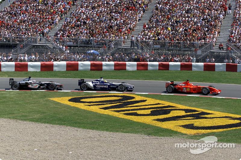 Michael Schumacher, Ralf Schumacher and David Coulthard