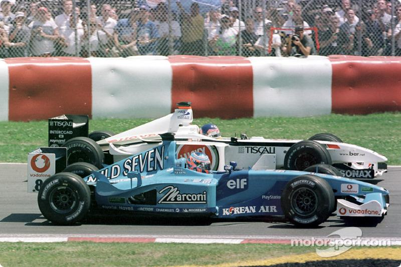 Jenson Button et Jacques Villeneuve au GP du Canada