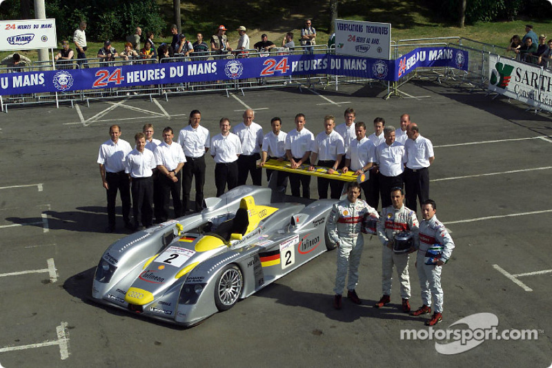 Team Audi Sport North America at scrutineering