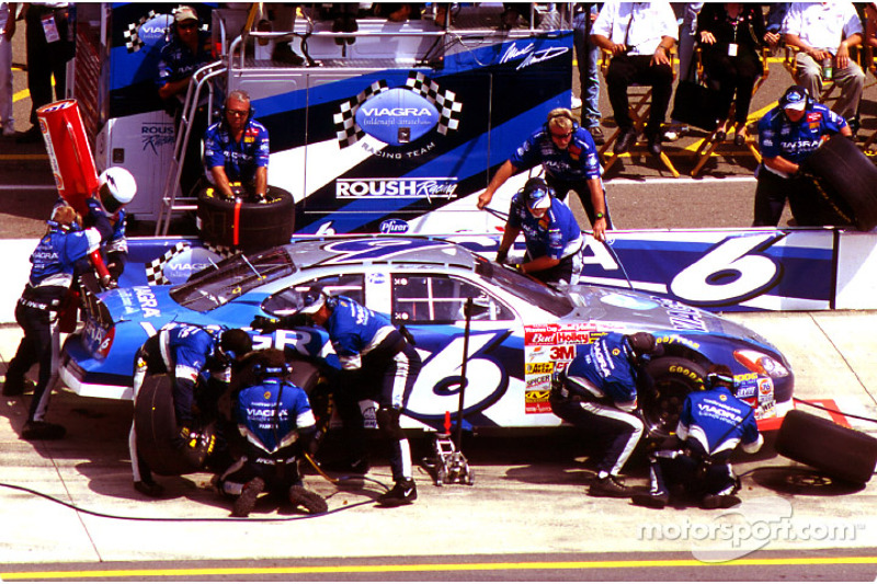 Mark Martin in the pits