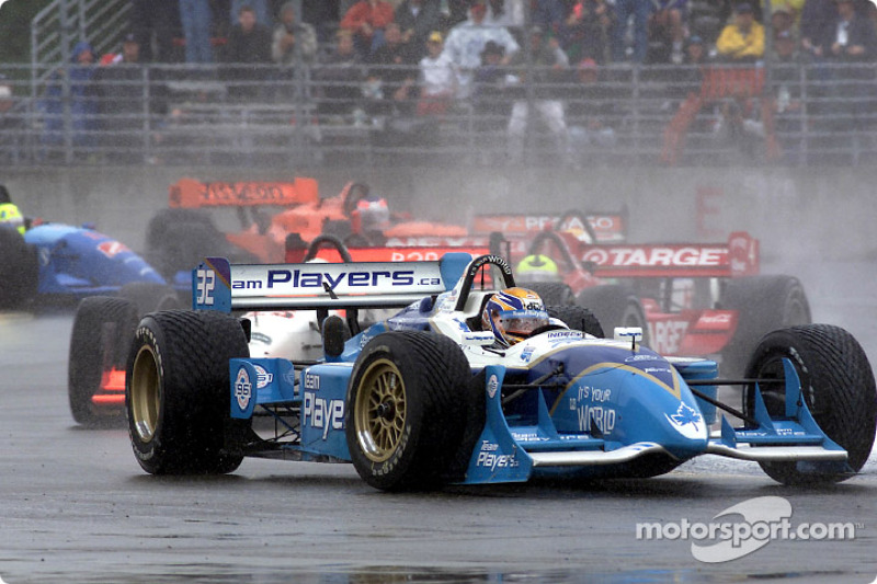 Patrick Carpentier fighting with Max Wilson and Bruno Junqueira