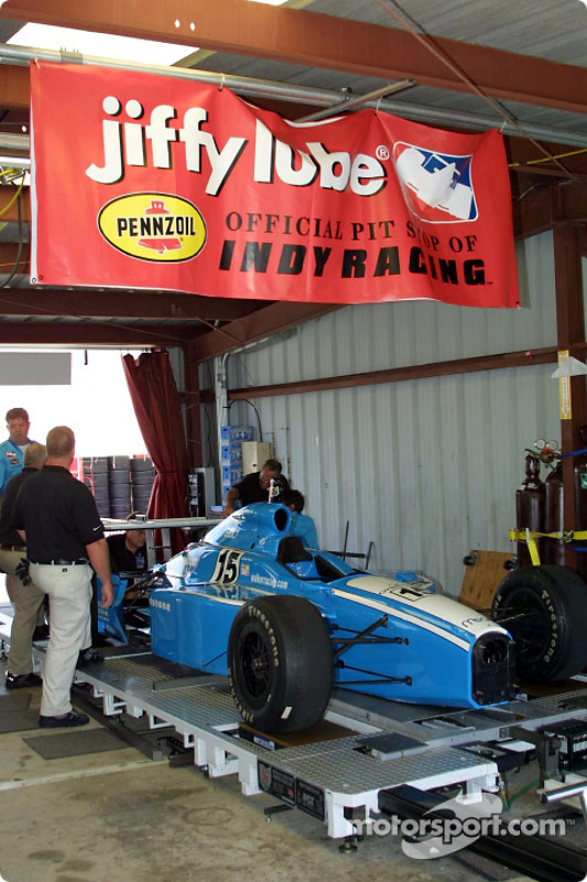 Pre-race inspection for Walker Racing