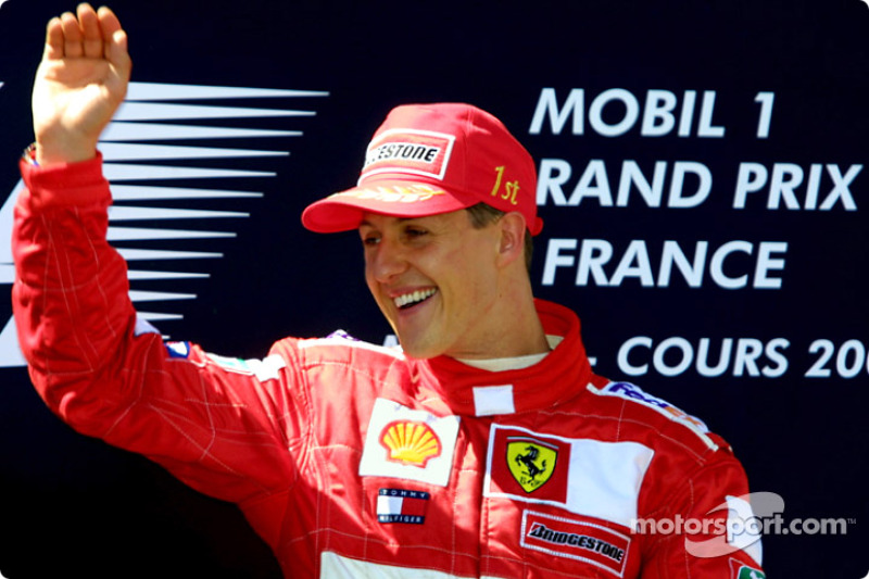 A happy Michael Schumacher