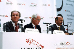 Jaguar Racing y HSBC renuevan patrocinio: Dr Wolfgang Reitzle, Sir John Bond y Bobby Rahal