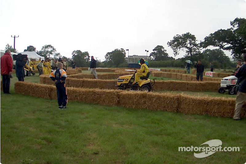 Honda lawnmower race: Heinz-Harald Frentzen