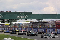 Starting grid from behind